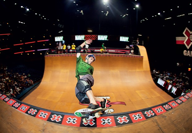 Sandro Dias, skateboarder, in the last X Games in the United States.