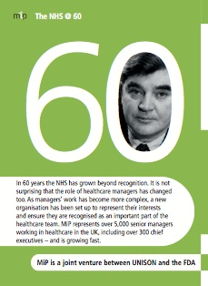 MiP NHS 60th pocket leaflet