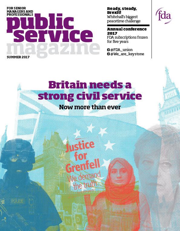 Public Service Magazine , editorially managed by Lexographic for the First Division Association (FDA), the union for Britain's top civil servants.