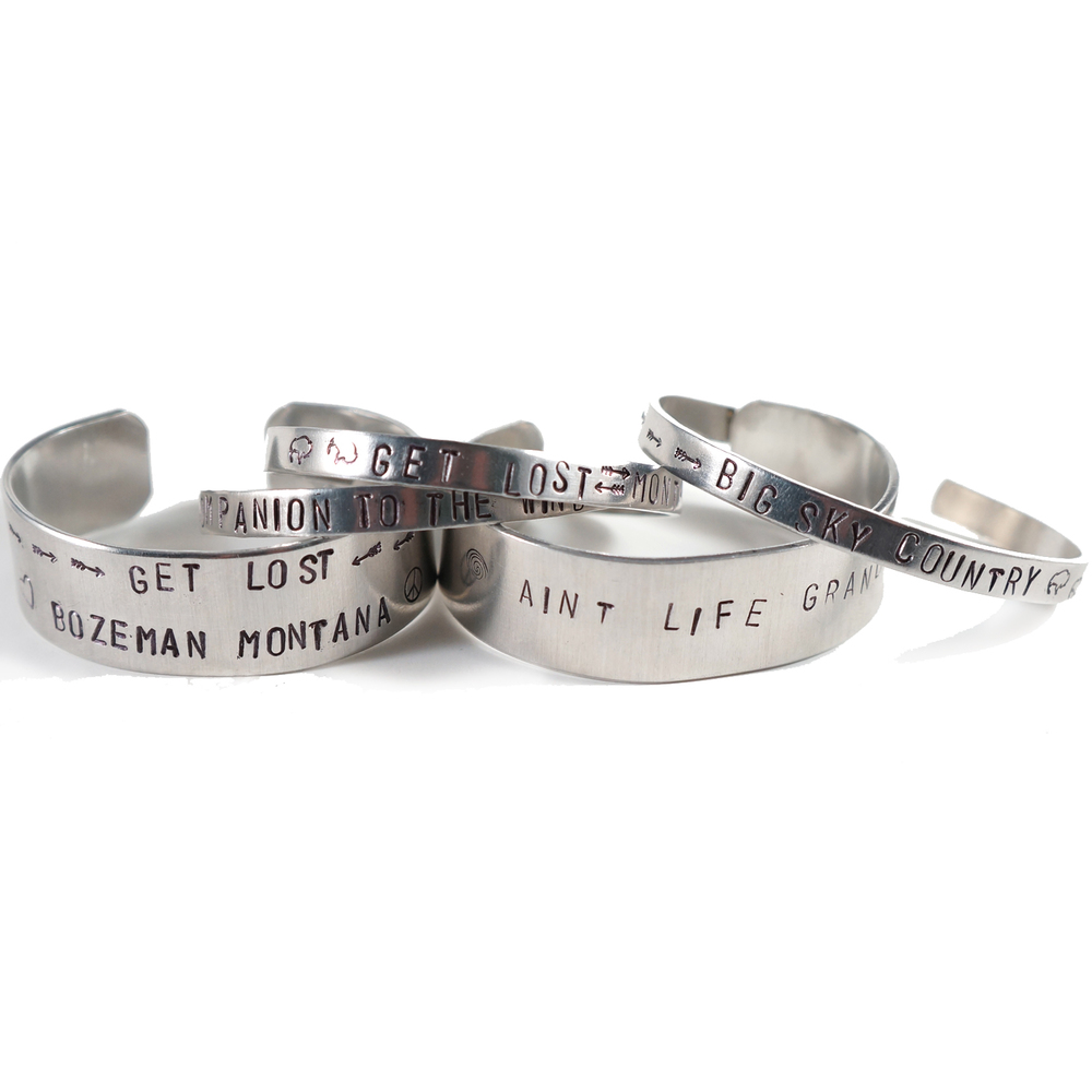 Give something meaningful on a custom-made stamped bracelet. Choose a favorite quote, song lyric, significant date or location ... anything!