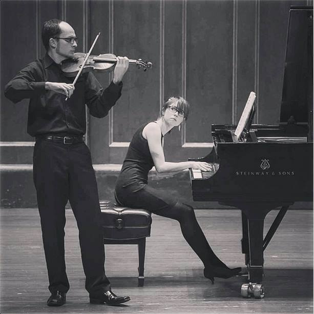 performing Schoenberg's 'Phantasy for violin and piano accompaniment, op. 47' with violinist Robert Anemone