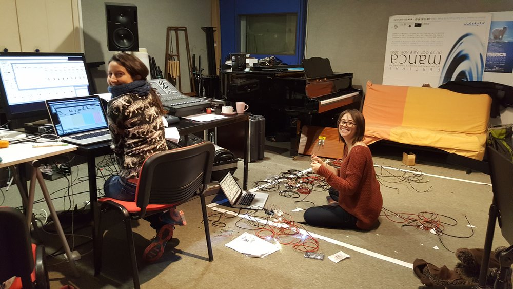 working in the studio at C.I.R.M. with collaborator Monica Gil Giraldo