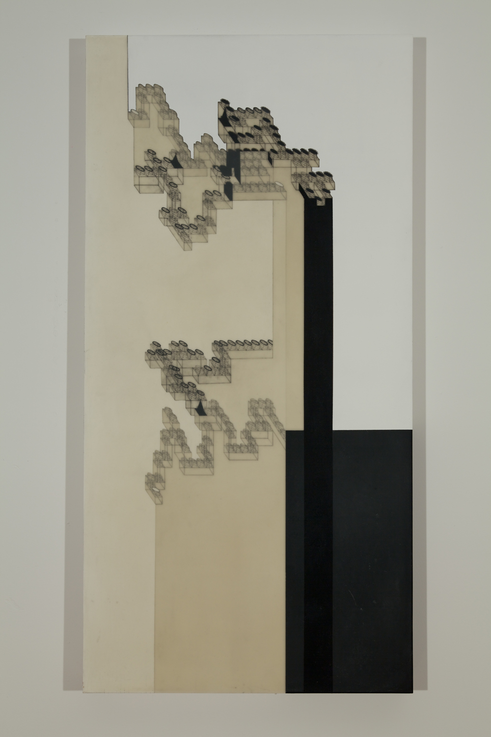 "Zaun Lee     Open Ended 3   , 2009    acrylic and graphite on wood panel    20"" x 20"""
