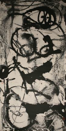 "Xu Demin   Untitled (Human Figure #1) 2010   Ink on Paper  55"" X 28"""