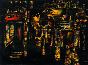 Wei Kang   Black Landscape , 2007  Oil on Canvas   150 cm X 200 cm