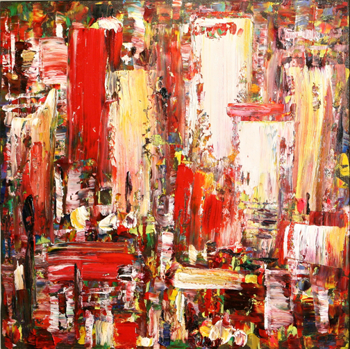 "Wei Kang    Metropolitan Mystiques #3 , 2010  Oil on Canvas  34"" X 34"""