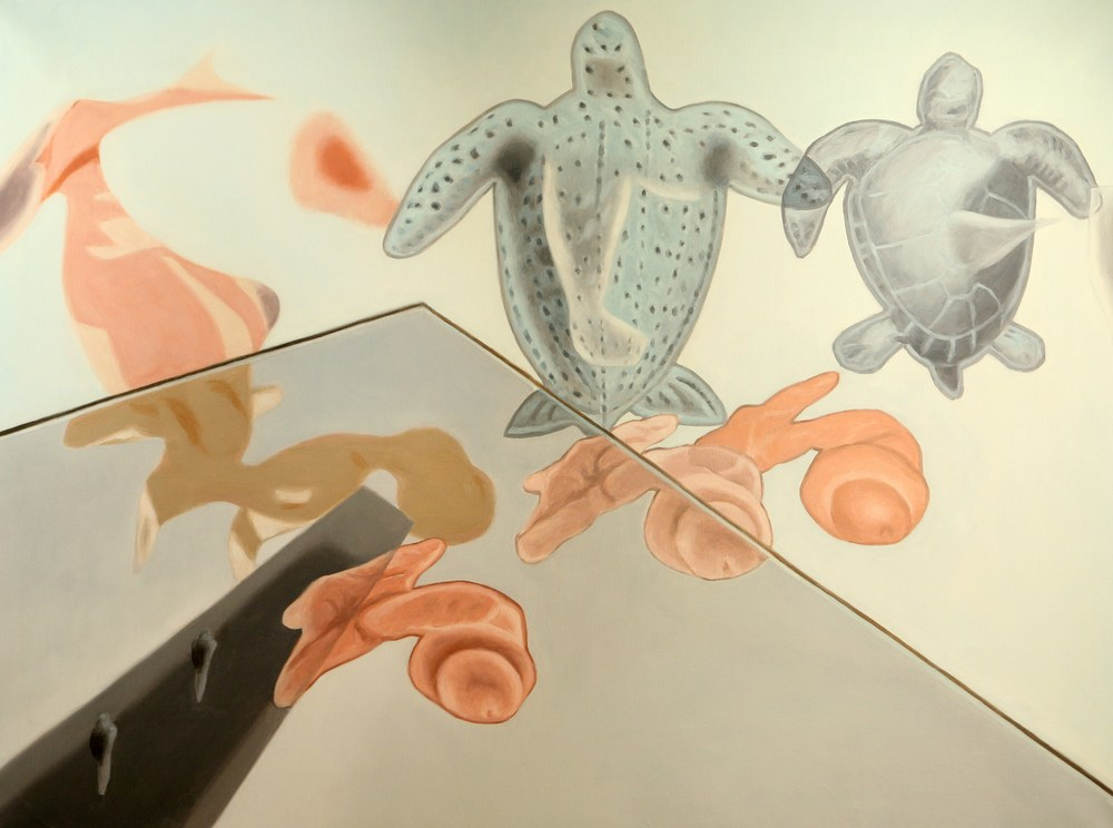 Turtle Bread with the Humorous Life, 2009  Oil on Canvas  120 x 90 cm