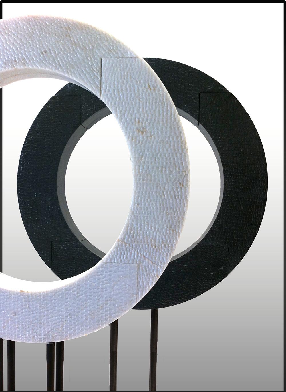 """Tarik Currimbhoy  Circle, 2011  Marble  2-0""""x4""""x2 1/2"""""""