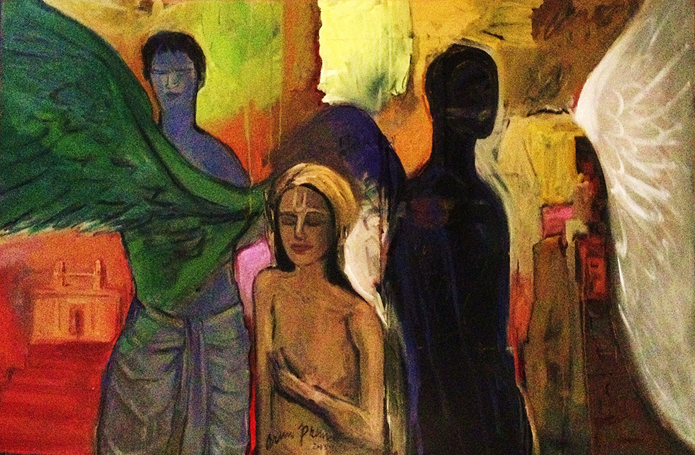 "Arun Prem  Angels Inc, 2013  Oil  48""x48"""