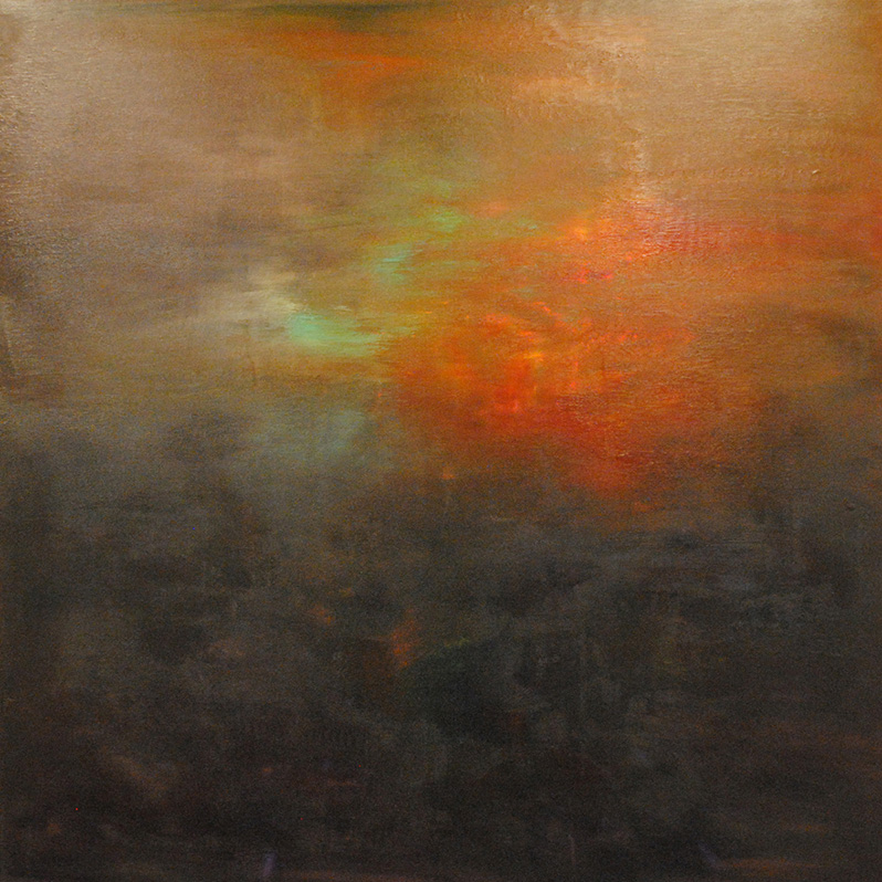 "Md Tokon  Md Tokon_Forest Sunset, 2013  Canvas  48""x48"""