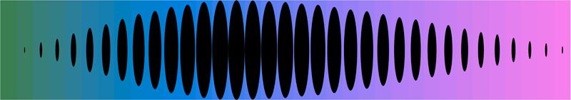 "Joshua Spodek   Blue Note , 2011  Digital print, acrylic lens, acrylic box  6"" x 34.5"" x 4.5"" ed. 1/5"