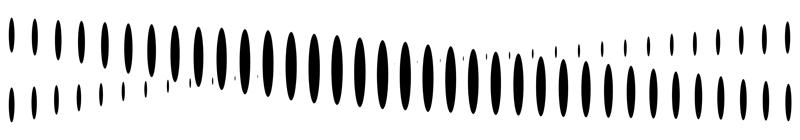 "Joshua Spodek   Duet , 2011  Digital print, acrylic lens, acrylic box  6"" x 34.5"" x 4.5"" ed. 1/5"