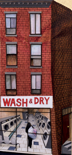 Hee Jung Cho  Wash and Dry, 2010  Mixed media on wood  24″ x 12″