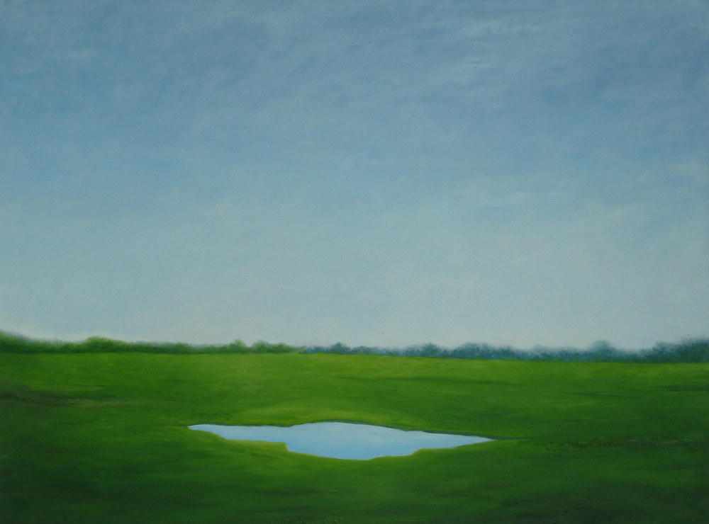 "Moni Oolyonghai  Eye of the Earth, 2010  Oil on canvas  36"" x 48"""