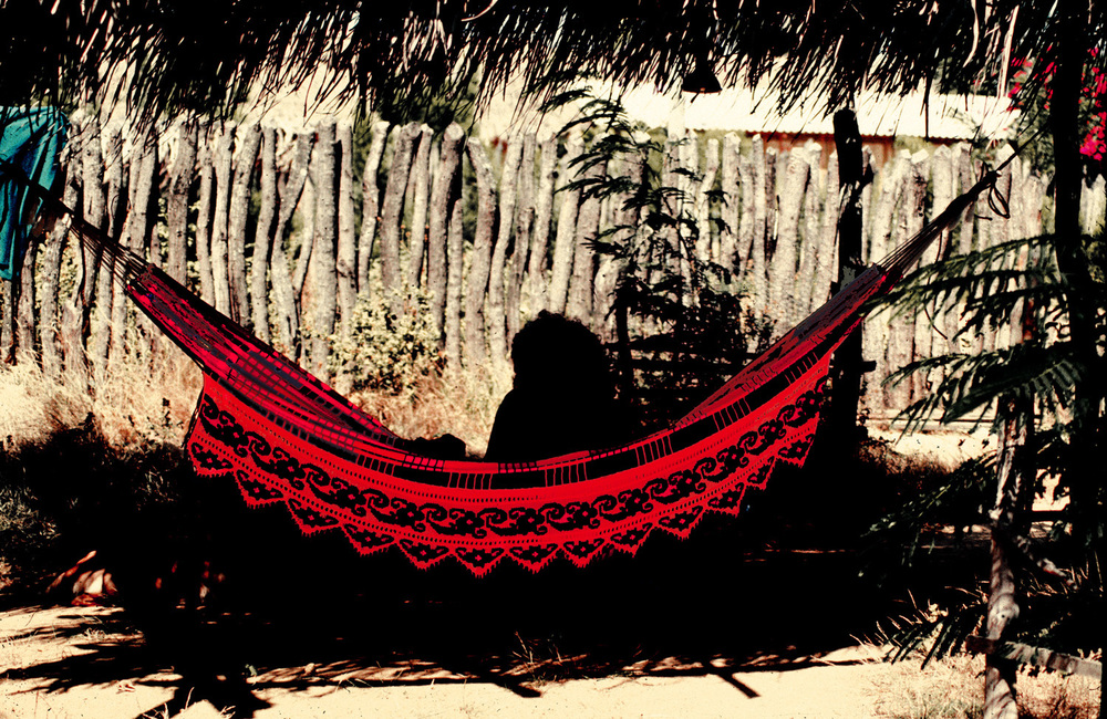 "Nereo  Woman and The Red Hammock, "" Chinchorro guajiro"", Guajira, Colombia, 1987  Inkjet archival print mounted on cardboard  Edition of 5, 21"" x 33"""