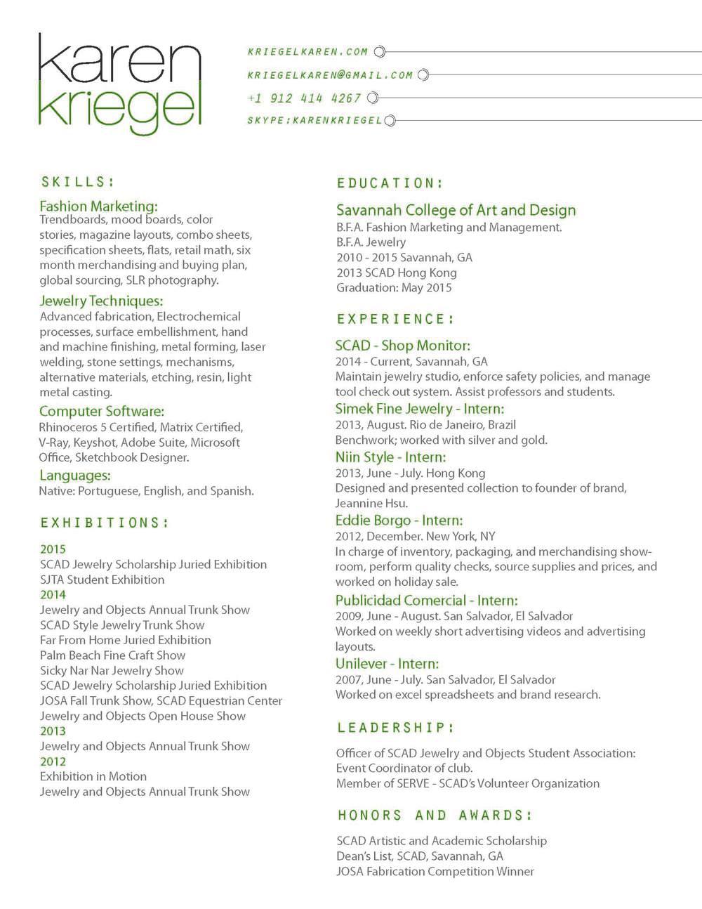 Karen Kriegel's Resume!