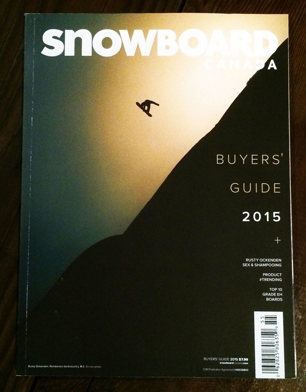Rusty Ockenden Cover, Pemberton backcountry, B.C. Baker Photo