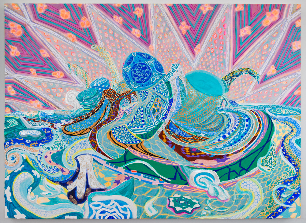 Ahkami_Negar_Retroactive Autorretrato_2013__Gesso, acrylic and glitter on canvas stretched on panel_48x66in_EMAILPROJECTORSRGB.jpg