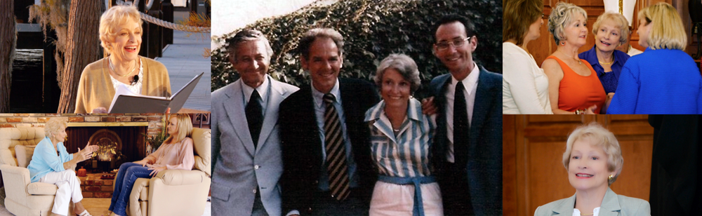 Center: San Diego, CA 1982. Jerry Jampolsky, Bill Thetford, Carol Howe and Ken Wapnick