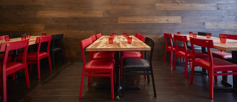 Toque Agency, The Merchant Kitchen, Winnipeg, Interior Tables and Chairs.