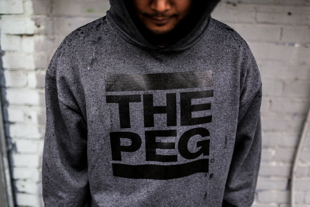Toque Agency: The Peg Authentic Brand, Winnipeg, Charcoal Hoodie.