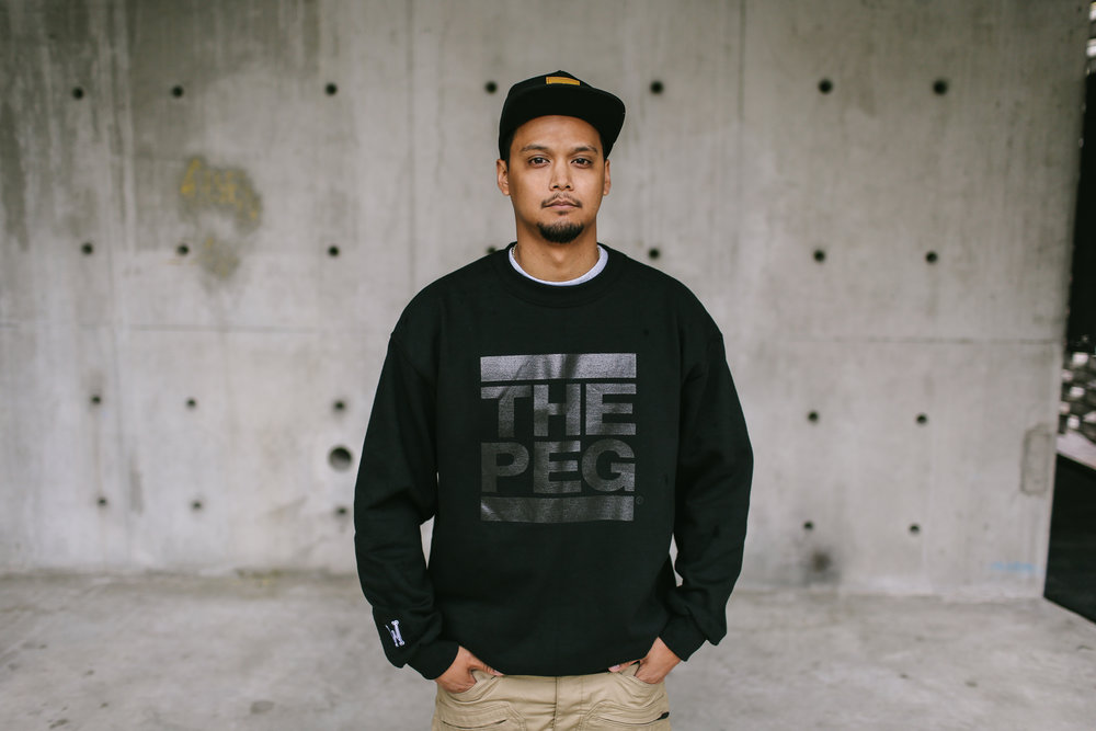 Toque Agency: The Peg Authentic Brand, Winnipeg, Black Crew Sweatshirt.