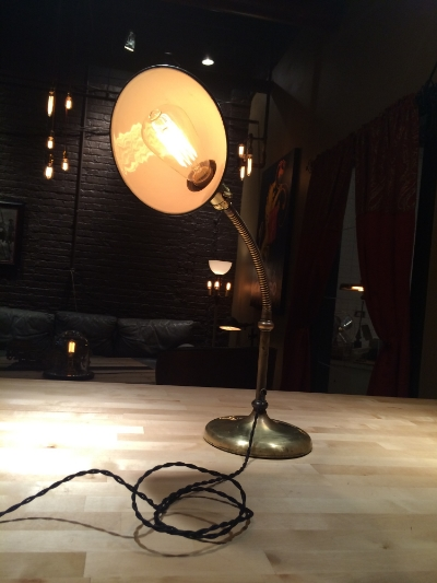 Brass Goose Neck Desk Lamp - $165