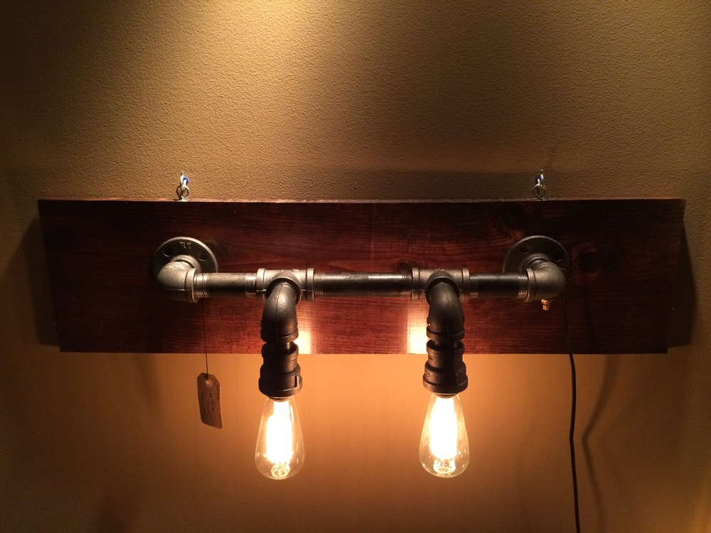 Dual Pipe Wall Sconce - $180 (SOLD)