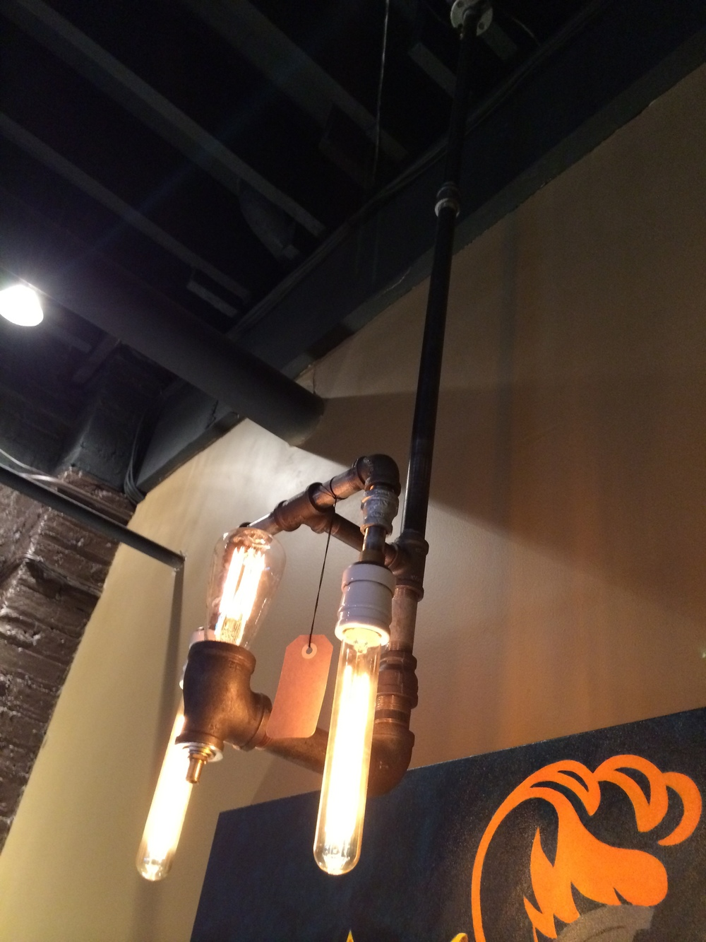 Ceiling Sconce Plumber Pipe Lamp 3 Bulb - $320