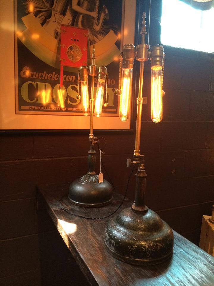 1930's Kerosene Cluster Lamp (rear model) - $160