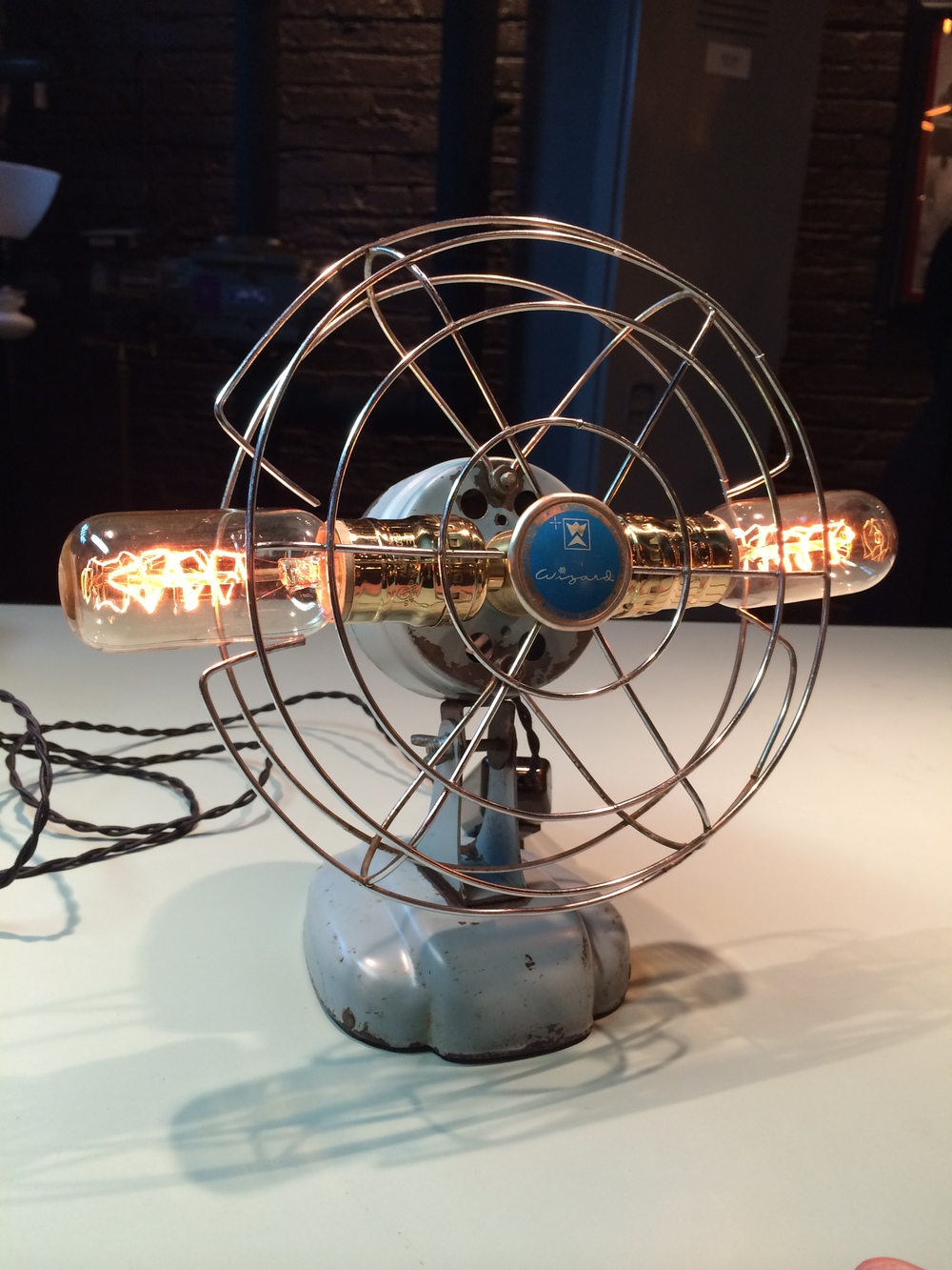 1950's Wizard Vintage Fan Lamp - $120 SOLD