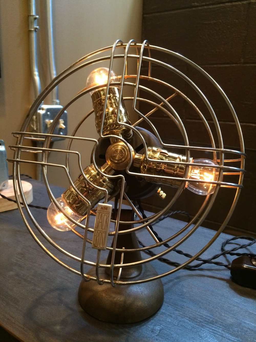 1950's Knap Monarch Vintage Fan Lamp - $120 SOLD