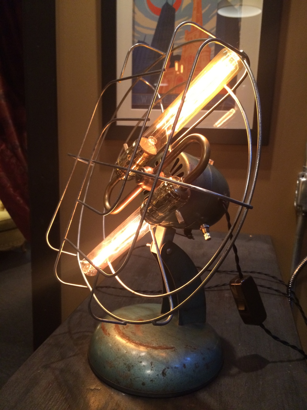 1950's Vintage Super Lectric Fan Lamp - $165