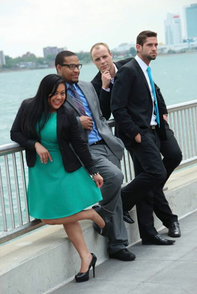 Social Sushi Squad (left to right): Grace Montero, Jay Rayford, Bub Mcdonald and Chris Bittner