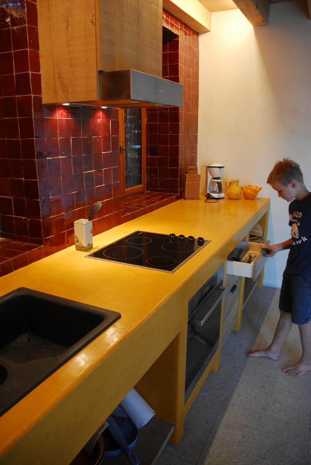 keukentablet: Stuc&Stone kalkglanspleister