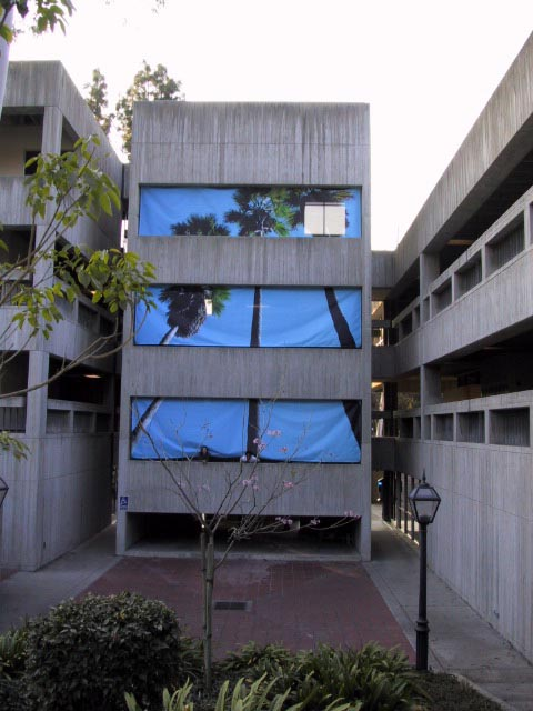 Triple Palms (Displaced Landscape), Steele Hall, Scripps College, 2003