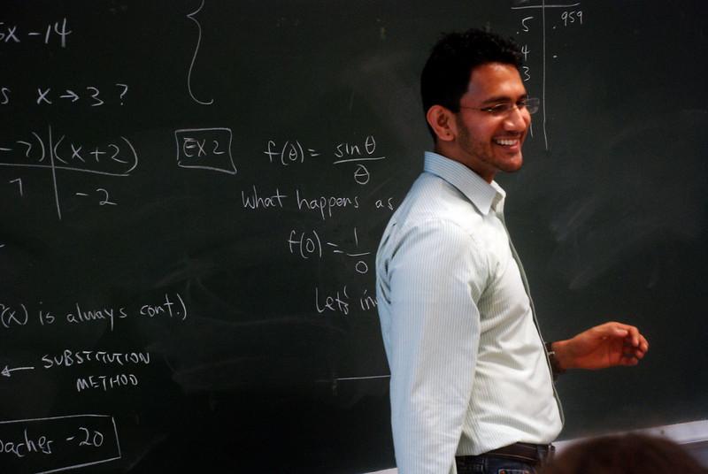 Achyut teaching Calculus.
