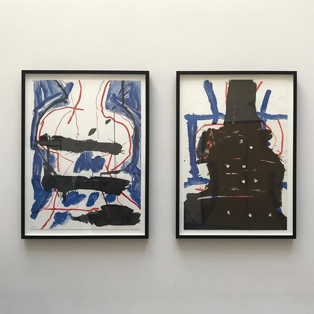 #PeterVoulkos artwork floated in ebonized walnut frames. Prints available at @nordenlivingsf