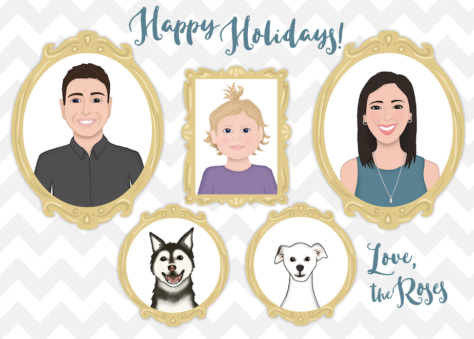 Commissioned holiday card