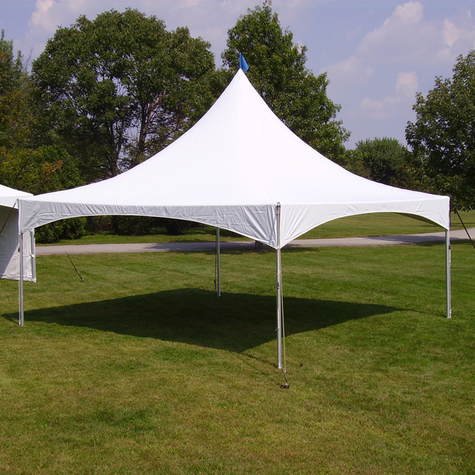This tent can fit about 40 seated for dinner or anything, fits up to 60 standing....WE HAVE 2 OF THEM