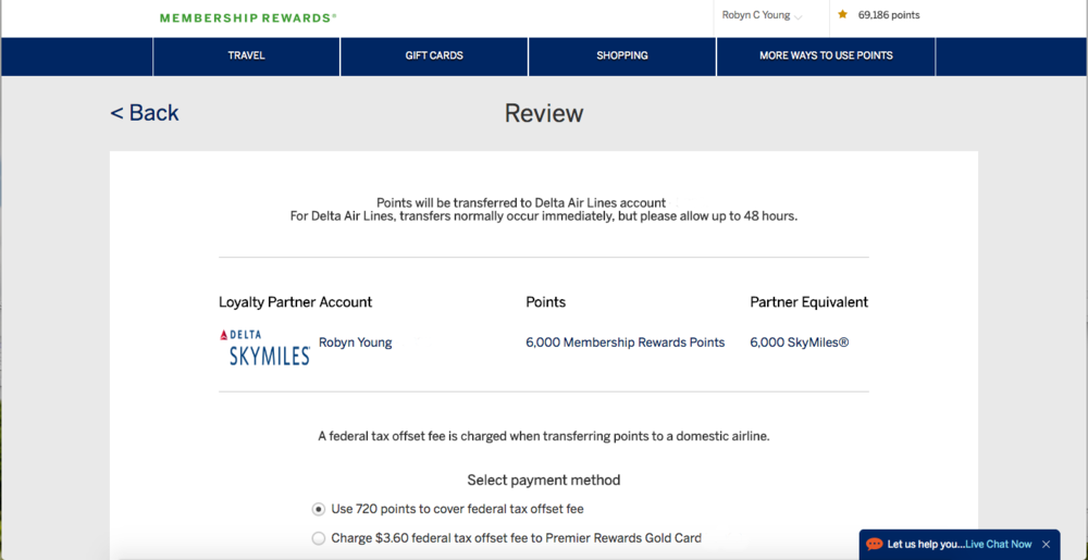 Delta - AMEX transfer points - In Tote Blog