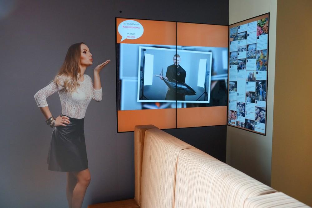 Project: Mes Amis - interactieve social media wall