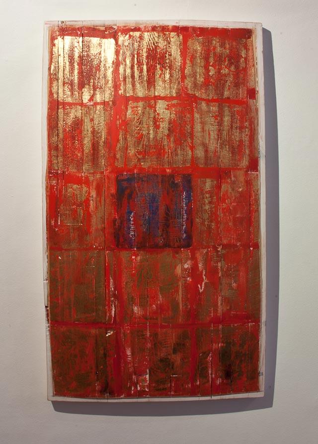 "Mikael Fare: ""Ikon"". Wood, 53 x 92 cm"