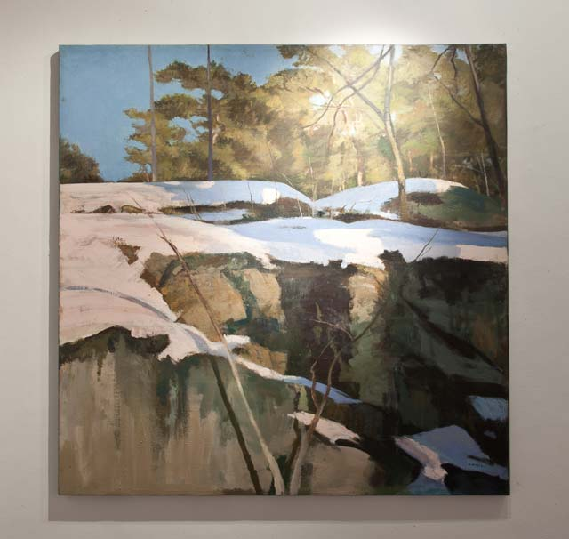 "Karl-Axel Larsson: ""Winter Landscape"". Oil on canvas, 100 x 100 cm"