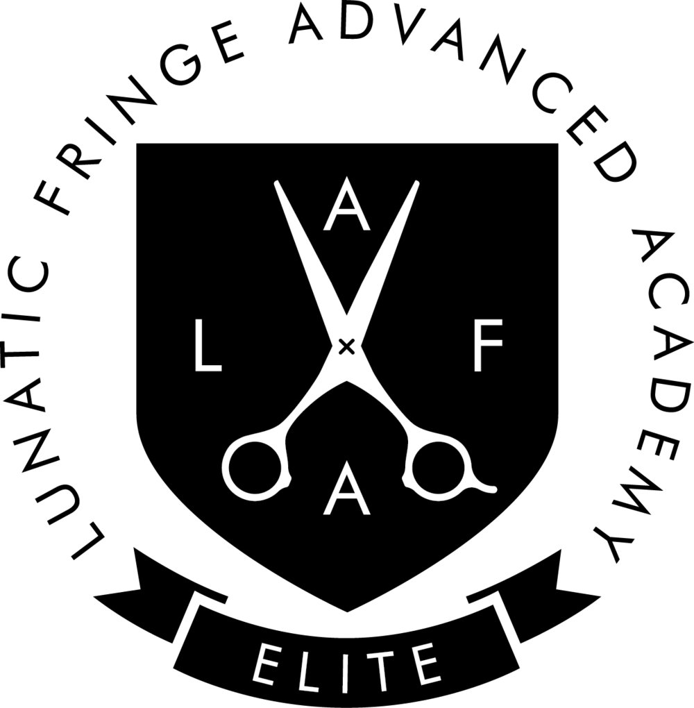 Behind the chair logo - Lunatic Fringe Advanced Academy