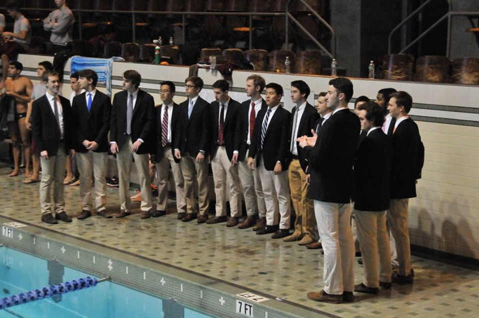 National Anthem at the Yale-Princeton-Harvard swimming tournament