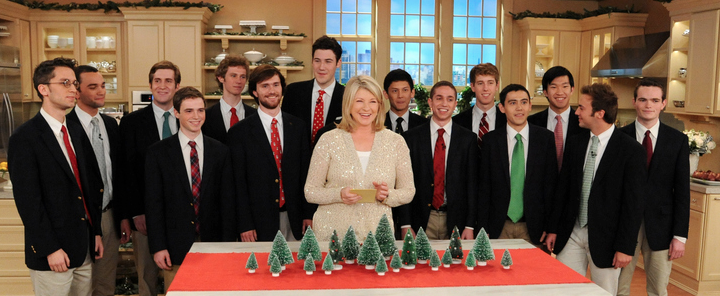 The Baker's Dozen singing Christmas Carols on the Martha Stewart Show