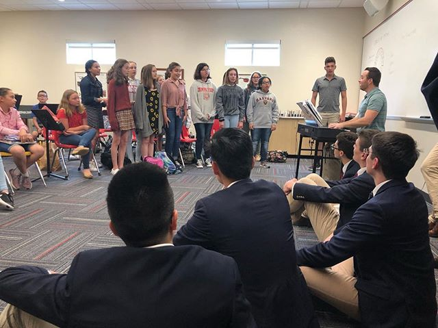 After we performed at Tampa Prep, the BDs got to hear the middle school chorus perform, as well as teach them one of our favorite songs.