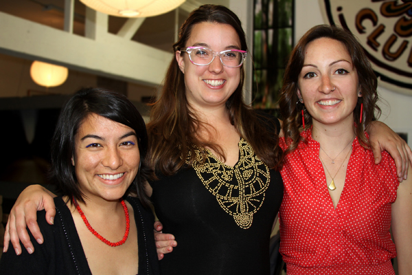 ArtSpan's Community Partnerships Program Manager Cristina Ibarra, with Lizzie Karr and Kim.