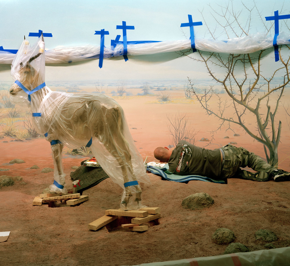 Single_Ungulate_and_man_amid_Blue_Crosses.jpg